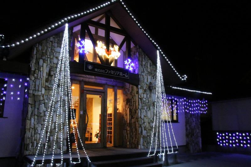 クリスマスイルミネーション2|熊本の注文住宅工務店ファミリアホーム