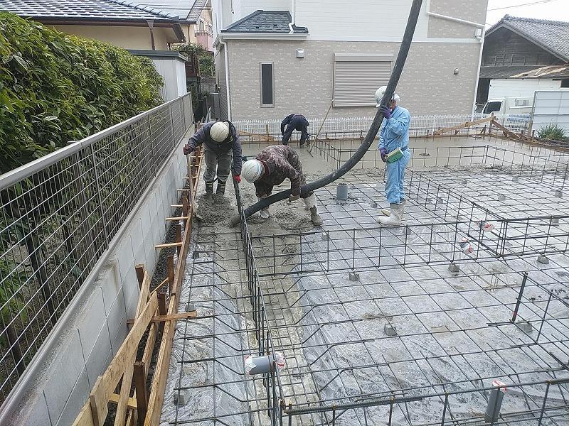 お家づくりの流れ基礎工事3 | 熊本の地元工務店ファミリアホーム