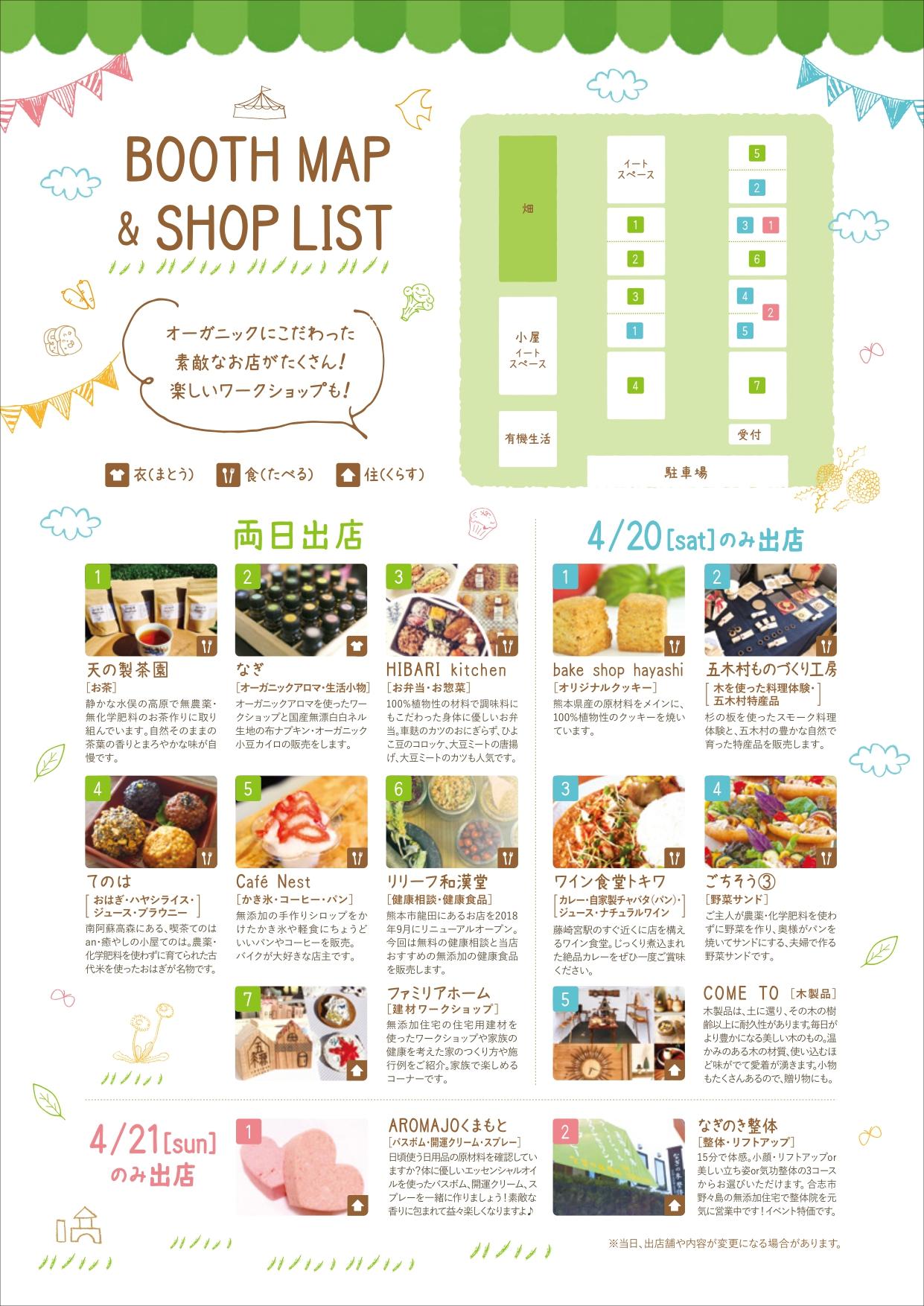 無添加マーケットのパンフレット裏|熊本の注文住宅工務店ファミリアホーム