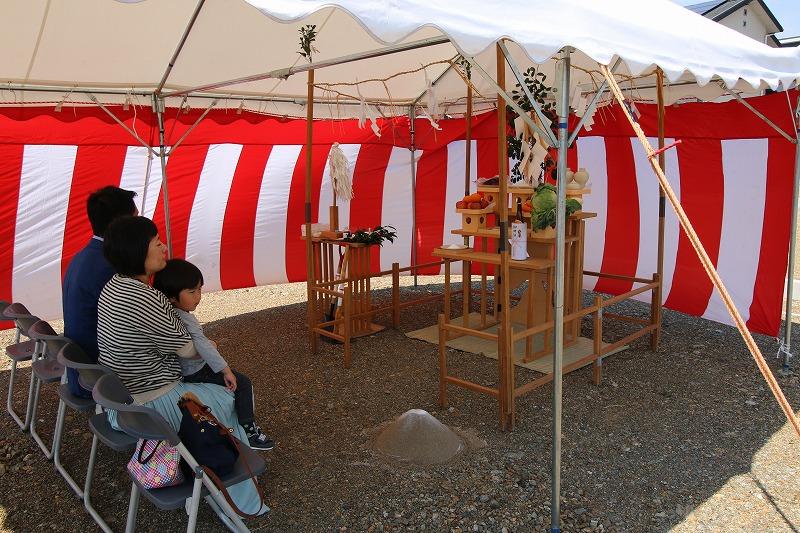 熊本・八代の地鎮祭1   熊本の地元工務店ファミリアホーム