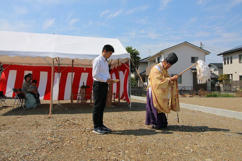 熊本・八代の地鎮祭3   熊本の地元工務店ファミリアホーム