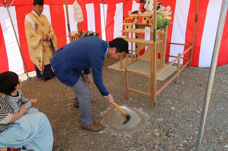 熊本・八代の地鎮祭4   熊本の地元工務店ファミリアホーム