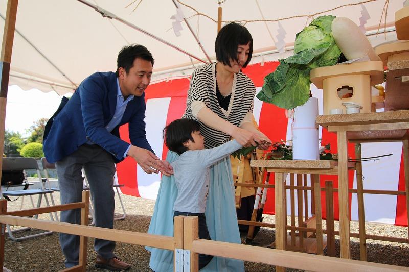 熊本・八代の地鎮祭5   熊本の地元工務店ファミリアホーム